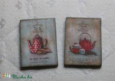 Kávés-teás hűtőmágnes (mibolyka) - Meska.hu
