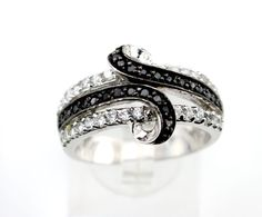 Silver 925 cz Cocktail Ring size10 7.3g marked as RP SC. #RP #Cocktail