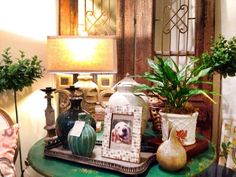 Frames, planters, and lamps oh my!  #housebeautiful #seasidehome912-638-8815