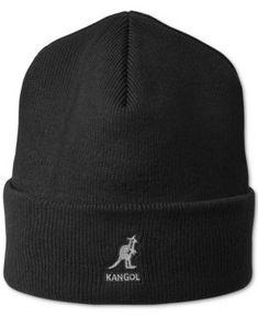 48a5753294d Kangol Men s Ribbed Beanie - Black Knit Beanie