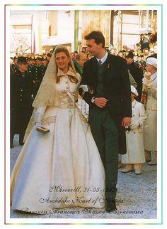 Wedding Dress Baroness Francesca Thyssen-Bornemisza....I have always been in love with her fantastic Winter look.
