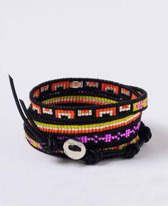 Chan Luu Japanese Seed and Beaded Pattern Wrap Bracelet