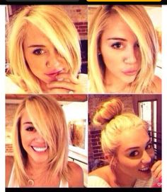 Miley Cyrus : pretty : long hair : blonde