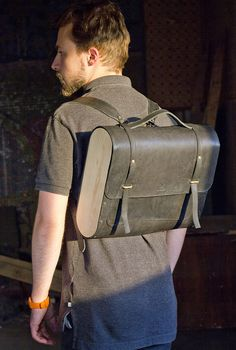 Mosaizm backpack, leather and wood