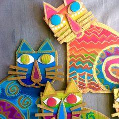 Les ateliers ARTiFun - atelier d'arts plastiques et loisirs créatifs en Guadeloupe: CHATS BADA BADA