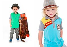 fore axel and hudson, golf inspired clothing for adorable little boys.  daddy would be so proud.