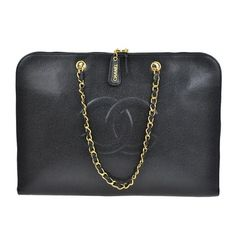 Chanel Cc Logo Chain Hand Blk Caviar Skin Leather Vintage Italy Black Tote Bag. Get one of the hottest styles of the season! The Chanel Cc Logo Chain Hand Blk Caviar Skin Leather Vintage Italy Black Tote Bag is a top 10 member favorite on Tradesy. Save on yours before they're sold out!