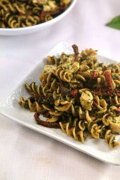 Healthy Lunch Recipes | Recipes / Chicken Pesto Pasta Salad   healthy office lunch tips