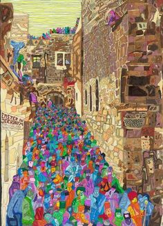 Easter In Jerusalem by Anis Hamadeh The Palestine Poster Project. Palestine Art, Middle Eastern Art, Guernica, Easter Art, Call Art, Types Of Art, Islamic Art, African Art, Art World