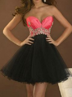 Shop Contrast Color Strapless Prom Dress from choies.com .Free shipping Worldwide.