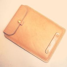 leather pocket for iPad , iPad Leather Case , Iped cover, Ipad bag case,office fashion, man bag, gift for him, gift for her. $109.00, via Etsy.