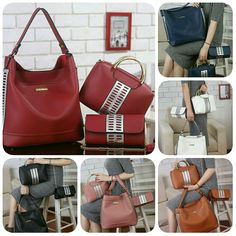 BATAM 270.000 VB Aqilla 3303 Semipremium 32x12x32 Berat 1,5kg ongkir 2kg   - Red - Blue - White - Brown - Black Bahan kulit