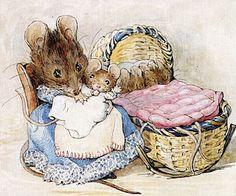 Tittle-mouse by Beatrix Potter. Peter Rabbit was a favorite story among others by Beatrix Potter. Beatrix Potter Illustrations, Illustration Mignonne, Beatrice Potter, Peter Rabbit And Friends, Marjolein Bastin, Poster Prints, Art Prints, Lino Prints, Block Prints