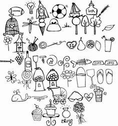 doodles drawings doodle simple drawing easy fonts random google flower cherry bullet sketch dad journal dibujos siluetas blossom scrollwork birthday