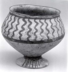 Cup  Period: Chalcolithic Date: ca. 3500 B.C. Geography: Iran, Tepe Hissar Medium: Ceramic Dimensions: 4.75 in. (12.07 cm)