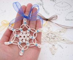Star pendant - Tutorial per fare un ciondolo a stella - Śnieżynki na choinkę