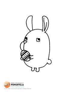 T-minus 13 days 'til #Easter! #Crafts #kids #Printable #Bunny #Egg