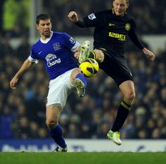 Everton 2 Wigan Ath 1 in Dec 2012 at Goodison Park. Everton made it 7 games unbeaten but Wigan made it tough for them #Prem