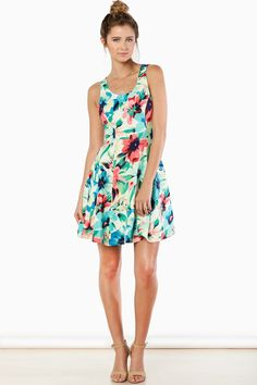 ShopSosie Style : Day In Paradise Dress in Floral