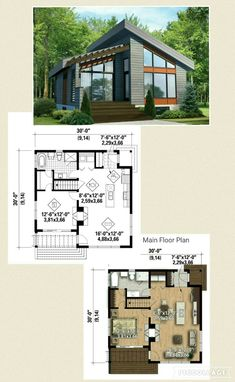 Great layout in this one bedroom home. Easily can add a finished basement with a rec room another bedroom along with another full bathroom. Cabin House Plans, Basement House Plans, Craftsman Style House Plans, Dream House Plans, Small House Plans, House Floor Plans, Basement Ideas, Zen House, Tiny House Exterior