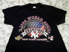 Sold VTG OFFICIAL 1996 NEW YORK YANKEES WORLD SERIES CHAMPIONS NAVY T-SHIRT SIZE M