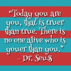 no one is youer than you! <3