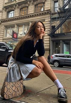 Preppy Outfits, Mode Outfits, Preppy Style, Dress Outfits, Fashion Dresses, Preppy Fashion, Style Fashion, School Skirt Outfits, Dress Shoes