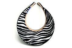 Ladies Full Clip-on Visor Safari Collection Black/Zebra by Dolly Mama Designs.  Buy it @ ReadyGolf.com.