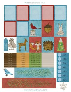 Free Printable Planner Stickers: Winter Woodland | Mini Van Dreams