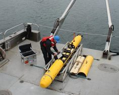 Nautical Robots Rule the Waves. Bluefin Robotics' Bluefin-12D autonomous underwater vehicle (AUV) is designed for search & salvage operations, offshore survey, archaeology, exploration, environmental monitoring, mine countermeasures, and detecting unexploded ordnance. It can travel 30 hours at 3 knots with a standard payload and dive 1,500 meters.