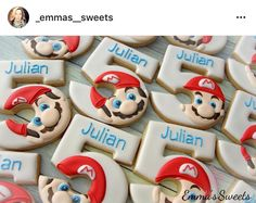Numbers Mario faces