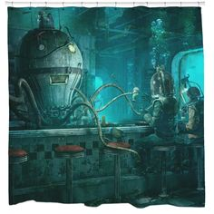 Check out what's cooking on the menu in the Octopus Diner, fully equipped with octopus bartender and extra seating for any fish, diver, or underwater creature that stops by. - FREE Shipping!!! (No add