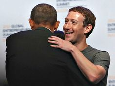 Facebook's Mark Zuckerberg Attacked by Left for Lacking Bias to Help Hillary Win - Breitbart h ttp://bit.ly/2f3TtR9 via @BreitbartNews STANFORD, CA - JUNE 24:  Facebook CEO Mark Zuckerberg (R) hugs U.S. President Barack Obama during the 2016 Global Entrepeneurship Summit at Stanford University on June 24, 2016 in Stanford, California. President Obama joined Silicon Valley leaders on the final day of the Global Entrepeneurship Summit.  (Photo by Justin Sullivan/Getty Images)