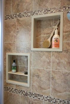 Luxury Bathroom Master Baths Rustic is definitely important for your home. Whether you pick the Small Bathroom Decorating Ideas or Small Bathroom Decorating Ideas, you will make the best Luxury Bathroom Master Baths Wet Rooms for your own life. Bathroom Niche, Shower Niche, Bathroom Layout, Bathroom Ideas, Master Bathroom, Tuscan Bathroom, Bathroom Furniture, Bathroom Design Small, Bathroom Interior Design
