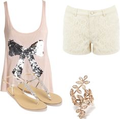Sequins, Lace, Pink, and Gold!  All my favorites in one outfit!