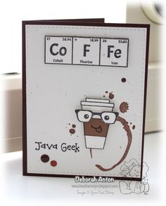 Your Next Stamp:  Coffee Rings stamp set and Java Geek Stamp set #yournextstamp