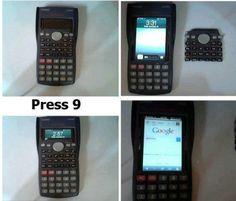 考試的時候可以帶計算機(學生:好~)  這iphone的外殼超讚XDD