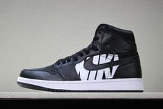 "af29acfab2c5 Off-White x Air Jordan 1 ""Nike Swoosh"" Black White Men s Size"