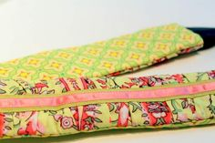 Gathered camera strap tutorial - Much more complex than the ones I just made! But I like this one so much more!