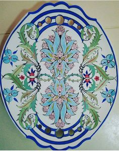 Ceramic Tile Art, Ceramic Plates, Islamic Tiles, Islamic Art, Russian Folk Art, Turkish Art, Tile Murals, Print Design, Diy And Crafts