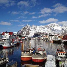 Lofoten, Norway Photo by BeateGran via Places To Travel, Places To See, Land Of Midnight Sun, Kirkenes, Scandinavian Countries, Visit Norway, Norway Travel, Lofoten, Future Travel
