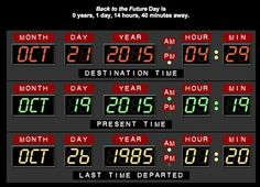 Today is the day Marty McFly went back to the future. October Anytime you are wondering how long we have to wait for Marty, check out this website for a countdown. That said, they really need to busy making those flying cars accessible to the masses. Marty Mcfly, October 21 2015, 21st October, Back To The Future Party, The Future Is Now, Back To The Future Tattoo, Doc And Marty, Johnny B, Doc Brown