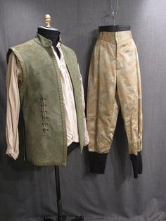 Man Of La Mancha, Shakespeare Festival, Festival Costumes, Medieval Costume, Doublet, Fantasy Costumes, Green Leather, Cavalier, Parachute Pants