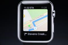 User friendly maps feature on the Apple Watch