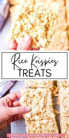 Think ooey, gooey loaded with marshmallows! That's what makes these the BEST Rice Krispies Treats. Plus, you can make them in your microwave so they are super quick and easy to make. These will be your go-to for years to come. Think perfectly THICK AND CHEWY.