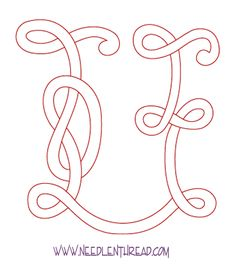 Monogram for Hand Embroidery: Celtic U – Almost FINISHED! – Needle'nThread.com