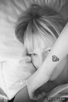 Live a little diamond tattoo Small Diamond Tattoo, Diamond Tattoos, Word Tattoos, Tatoos, Unique Tattoos, Small Tattoos, Deathly Hallows Tattoo, I Tattoo, Tatting