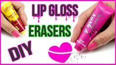 DIY Crafts: DIY LIP GLOSS ERASERS! Easy NO Clay Eraser DIYs!