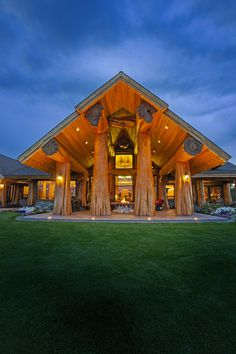 Prosperity Ridge Home - Pioneer Log Homes of BC #loghome #customloghome #luxuryloghome