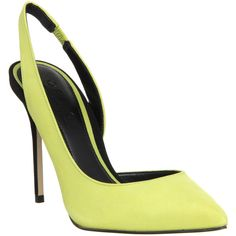 Office Premiere Slingback Dorsay Point ($46) ❤ liked on Polyvore featuring shoes, pumps, heels, high heels, lime black nubuck, women, slingback pumps, black pointy-toe pumps, black shoes and women shoes